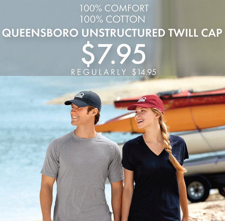 Custom Embroidered Queensboro Unstructured Twill Caps