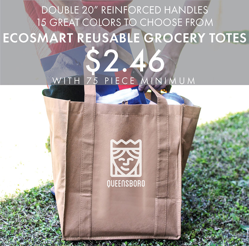 Custom Printed EcoSmart Reusable Grocery Totes