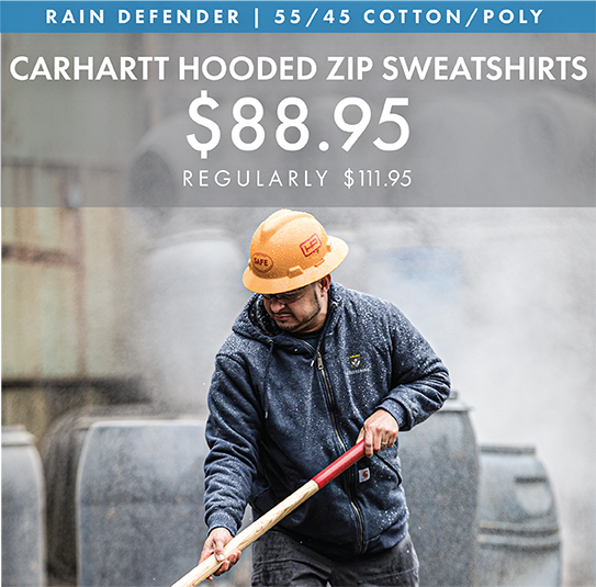 Custom Embroidered Carhartt Hooded Zip Sweatshirts!