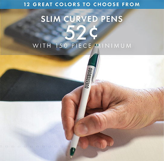 Custom Printed Slim Curved Pens