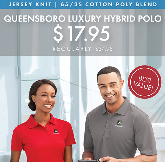 Custom Embroidered Queensboro Luxury Hybrid Polos