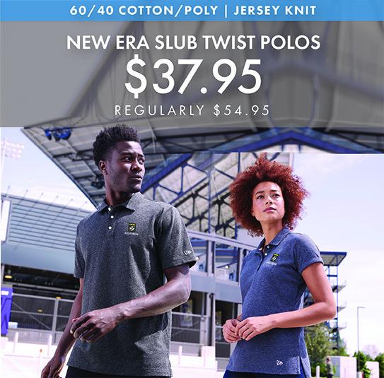 Custom Embroidered New Era Slub Twist Polos!