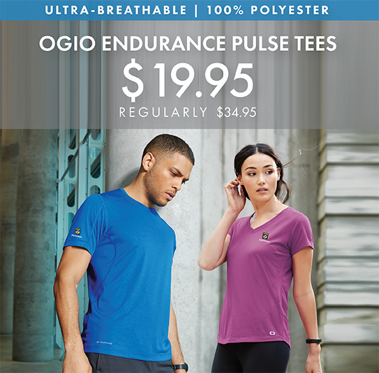 Custom Embroidered OGIO ENDURANCE Pulse Tees!