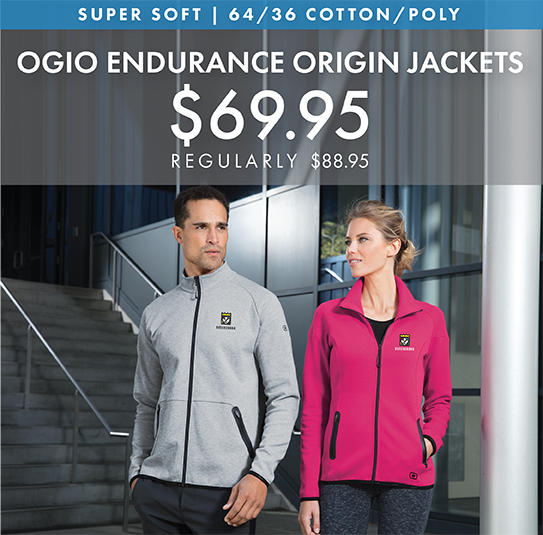 Custom Embroidered OGIO ENDURANCE Origin Jackets!