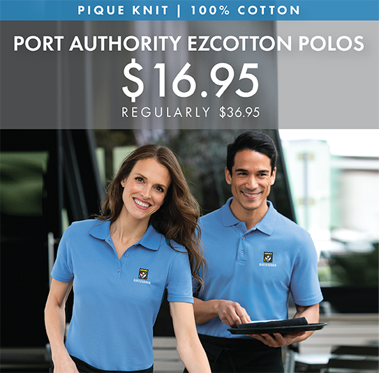 Custom Embroidered Port Authority EZ Cotton Pique Polos