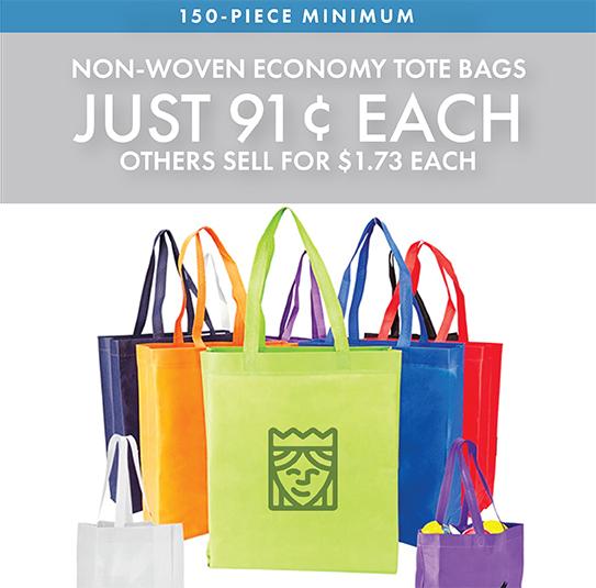 Custom Printed Non-Woven Economy Tote Bags