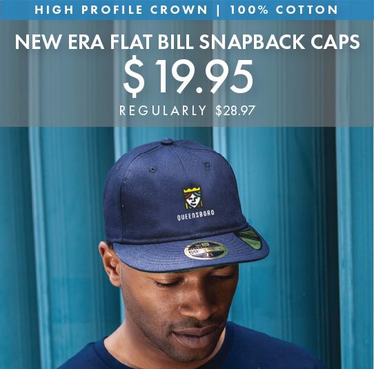 Custom Embroidered New Era Flat Bill Snapback Caps!