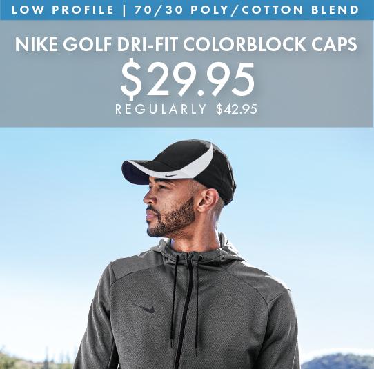 Custom Embroidered Nike Golf Dri-FIT Colorblock Caps!