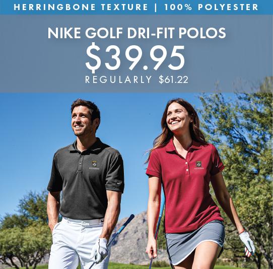 Custom Embroidered Nike Golf Dri-FIT Polos!