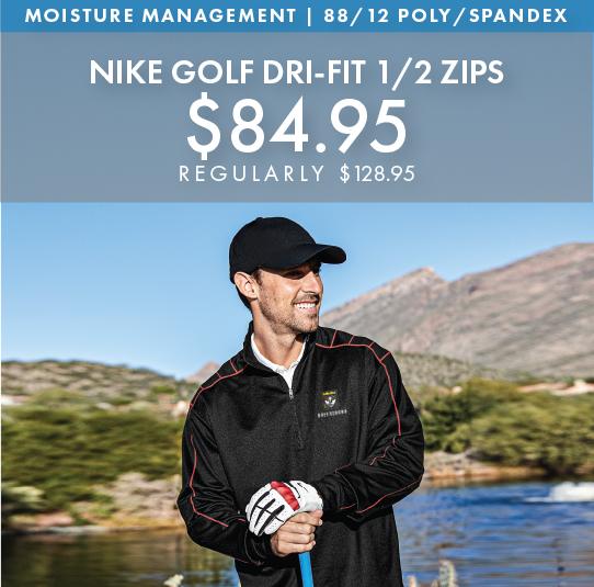 Custom Embroidered Nike Golf Dri-FIT 1/2-Zips!