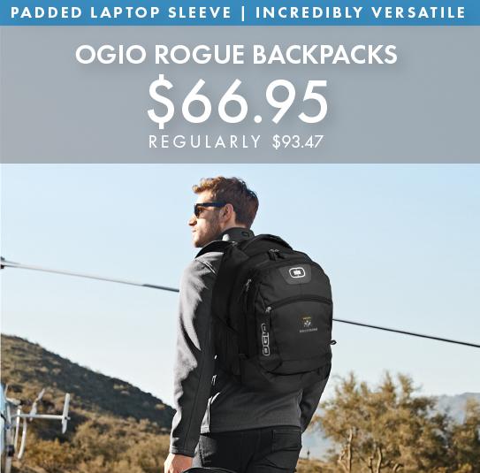 Custom Embroidered OGIO Rogue Backpacks!