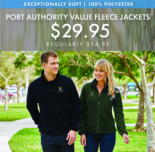 Custom Embroidered Port Authority Value Fleece Jackets
