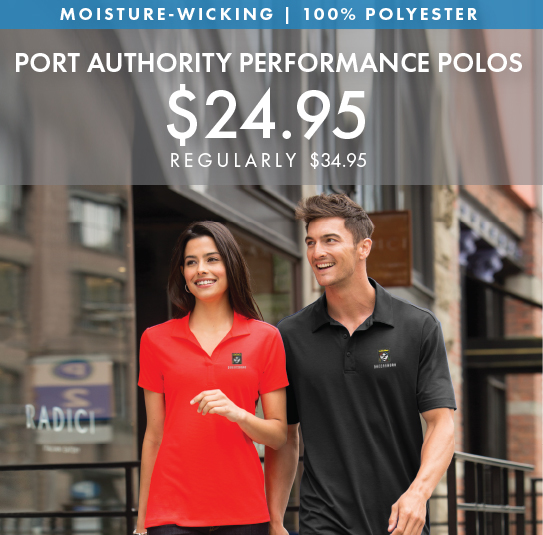 Custom Embroidered Port Authority Performance Polo!