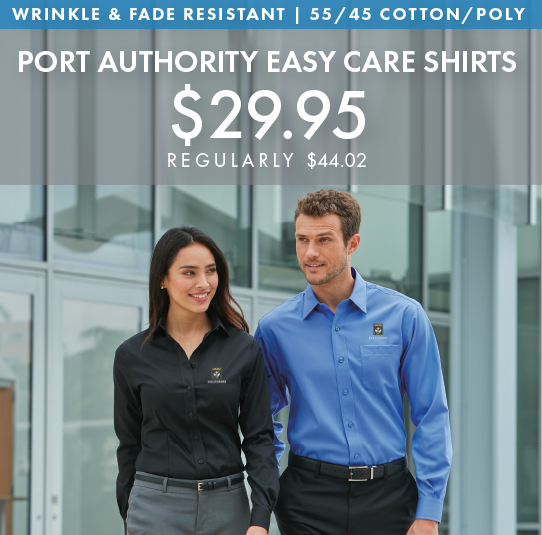 Custom EmbroideredPort Authority Easy Care Shirts!
