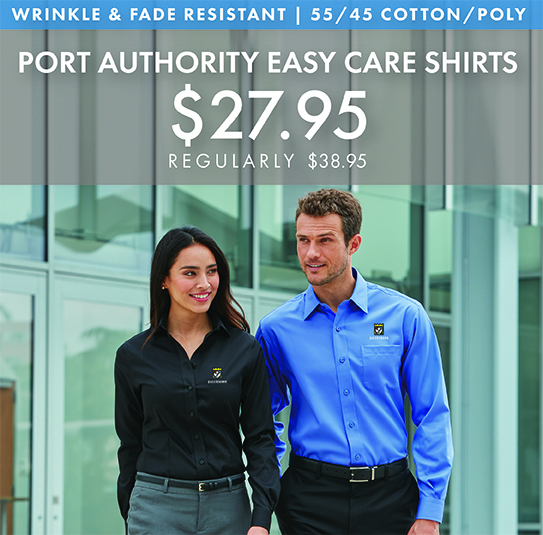 Custom Embroidered Port Authority Easy Care Shirts!