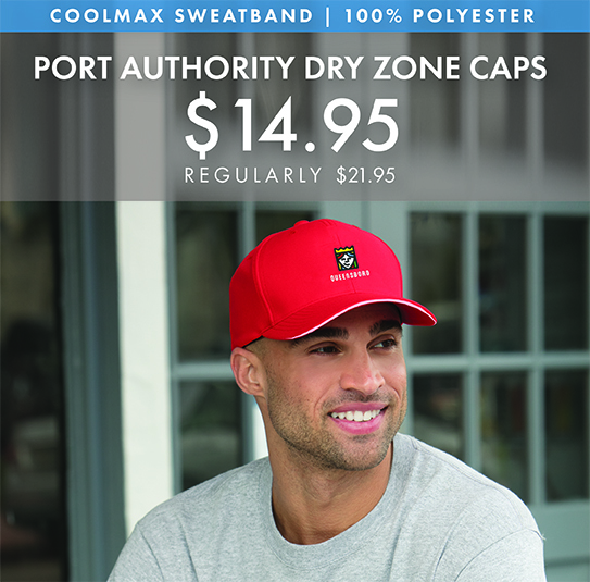Custom Embroidered Port Authority Dry Zone Caps!