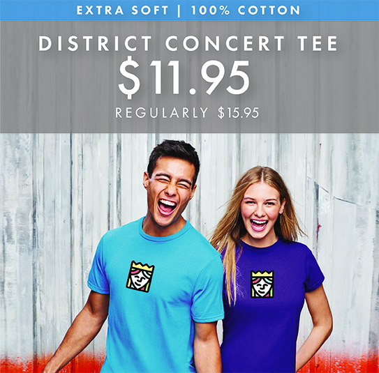 Custom Printed District Concert Tees!