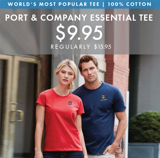 Custom Embroidered Port & Company Essential Tees