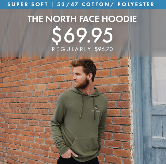 Custom Embroidered The North Face Hoodie!