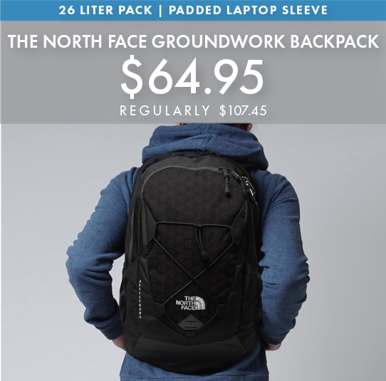 Custom Embroidered The North Face Groundwork Backpack!
